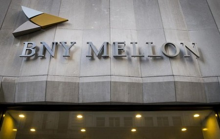 FILE PHOTO:  The Bank of New York Mellon Corp. building at 1 Wall St. is seen in New York's financial district