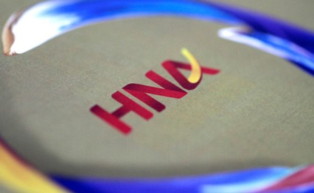 FILE PHOTO: Illustration photo of the HNA logo