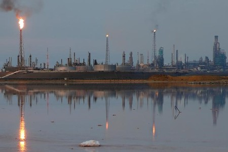 FILE PHOTO: A general view of the Amuay refinery complex, which belongs to the Venezuelan state oil company PDVSA, in Punto Fijo