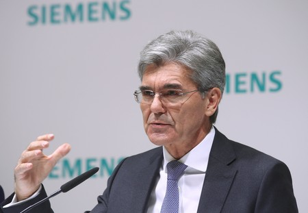 Siemens CEO Kaeser attends the company's annual news conference in Munich