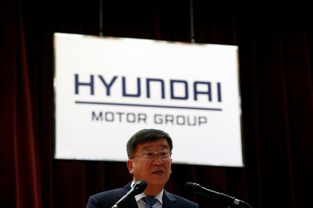 Hyundai Motor Group Vice Chairman Yoon Yeo-chul speaks during the company's New Year ceremony in Seoul