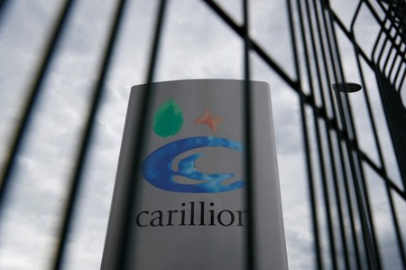 A Carillion sign can be seen in Manchester