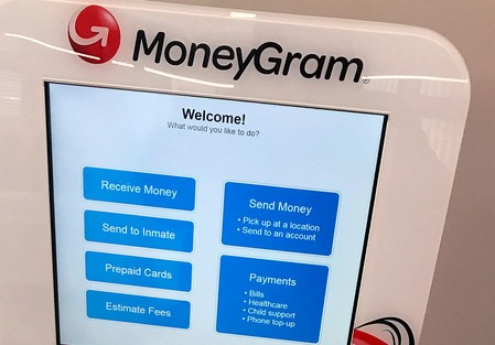 FILE PHOTO: A MoneyGram kiosk is seen in New York