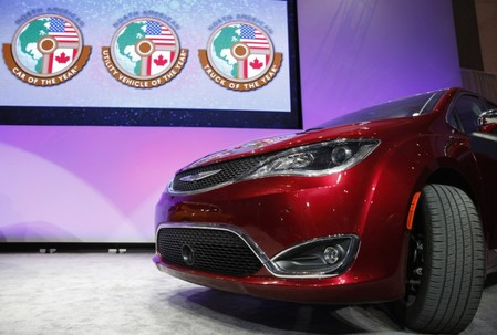 The Chrysler Pacifica is introduced as the 2017 Utility Vehicle of the Year during the North American International Auto Show in Detroit