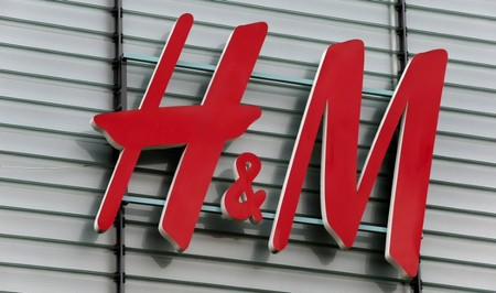 Logo of Swedish fashion retail group H&M is seen at a building in Dietlikon
