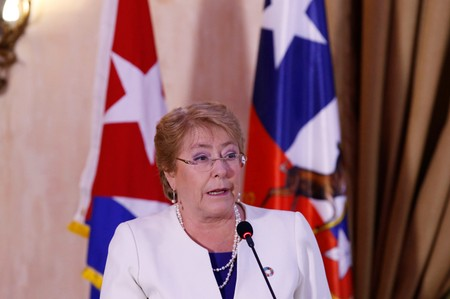 Chile's President Michelle Bachelet speaks during the opening of a business forum in Havana