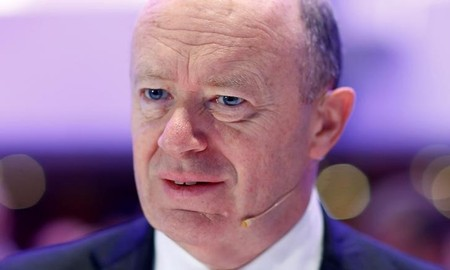 CEO of Deutsche Bank, Cryan attends the 27th European Banking Congress at the Old Opera house in Frankfurt