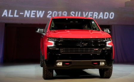 General Motors debuts its 2019 Chevrolet Silverado pick-up truck at Eastern Market in Detroit,