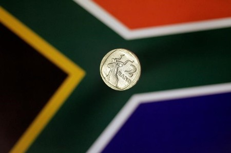 Illustration photo of a two Rand coin from South Africa