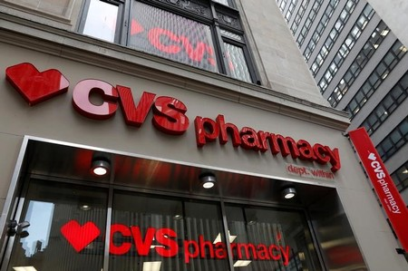A CVS Pharmacy store is seen in the Manhattan borough of New York City