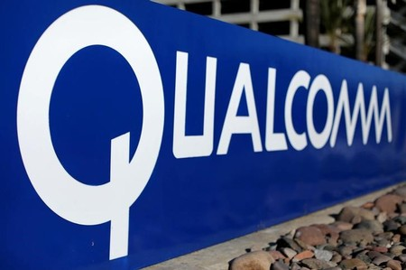 FILE PHOTO: A sign on the Qualcomm campus is seen, as chip maker Broadcom Ltd announced an unsolicited bid to buy peer Qualcomm Inc for $103 billion, in San Diego
