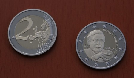 Presentation of a new 2 Euro commemorative coin in honour of former German Chancellor Helmut Schmidt