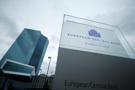 FILE PHOTO - The European Central Bank headquarters are pictured in Frankfurt