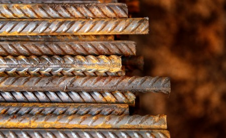 FILE PHOTO: Steel rebar is pictured at the Ariel Metal steel trader warehouse in Podolsk, Russia