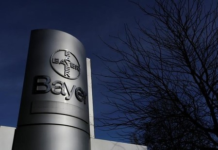 FILE PHOTO: The logo of Bayer AG