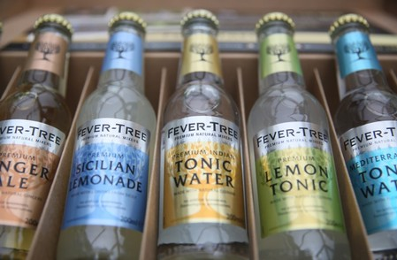 FILE PHOTO: Products from the drinks company Fever-Tree are displayed in London