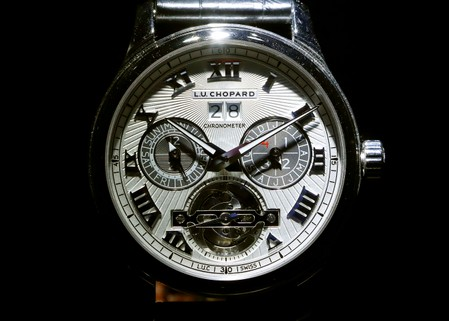 0a635845d17b Watch of Swiss manufacturer Chopard is displayed at Baselworld fair in Basel