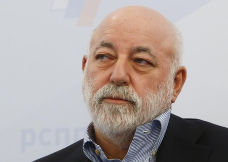 FILE PHOTO: Chairman of the Board of Directors of Renova Group Vekselberg attends a session during the Week of Russian Business in Moscow