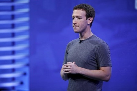 FILE PHOTO: Facebook CEO Mark Zuckerberg speaks on stage during the Facebook F8 conference in San Francisco, California