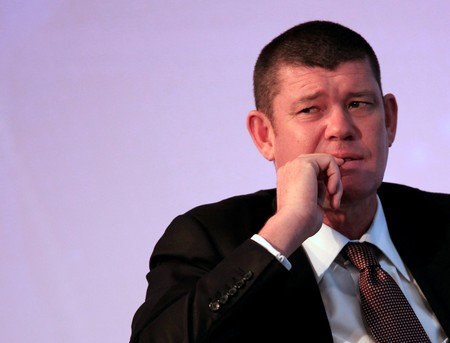 FILE PHOTO - Australian gambling tycoon Packer looks on during the Commonwealth Business Forum in Colombo