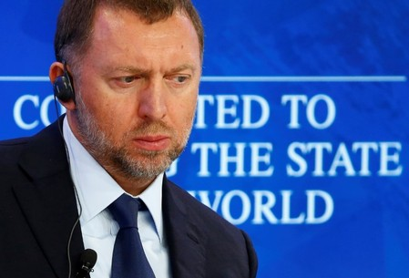 FILE PHOTO: Russian tycoon Deripaska attends the session