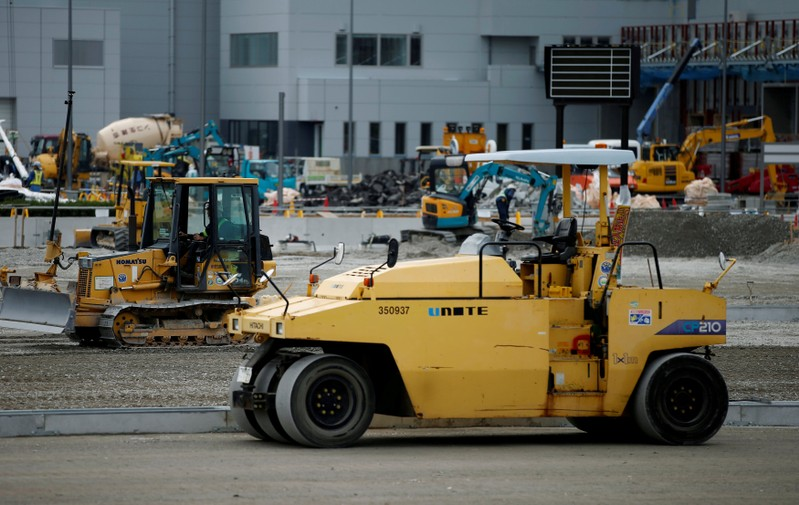 FILE PHOTO: Heavy machinery is seen in Tokyo