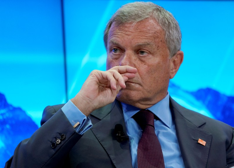 FILE PHOTO: Sir Martin Sorrell, Chief Executive Officer of WPP, attends the World Economic Forum (WEF) annual meeting in Davos
