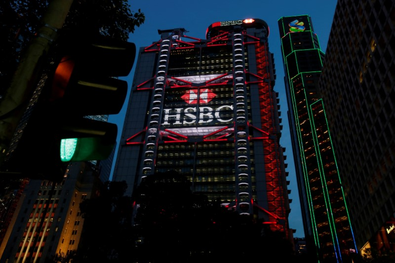 FILE PHOTO: HSBC headquarters is seen at the financial Central district in Hong Kong