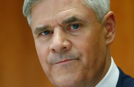 Dombret member of the board of the Deutsche Bundesbank speaks during news conference in Frankfurt