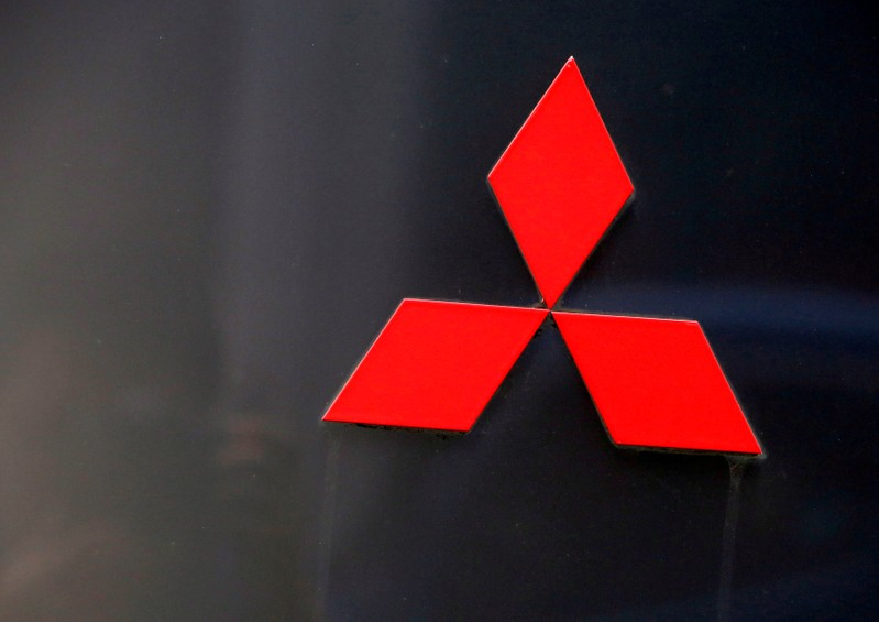 FILE PHOTO: The signboard of Mitsubishi Corp is pictured at its head office in Tokyo