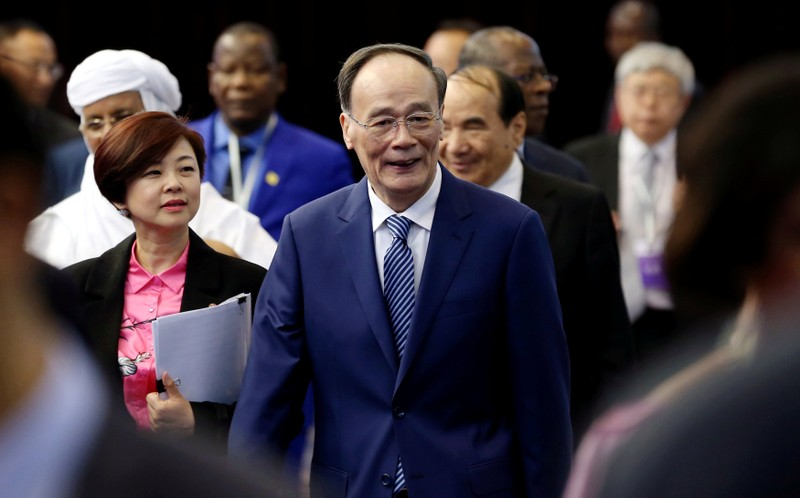 Chinese Vice President Wang Qishan attends the opening ceremony of a forum on China-Africa local government cooperation, in Beijing