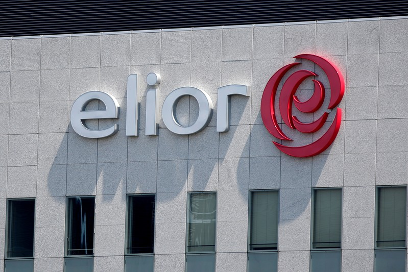 FILE PHOTO: The logo of Europe's third-largest catering group Elior is seen on top of the company's headquarters in the financial and business district in La Defense at Courbevoie near Paris, France
