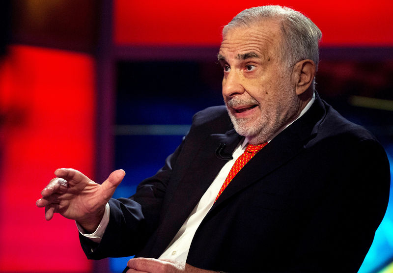 FILE PHOTO: Icahn gives an interview on FOX Business Network's Neil Cavuto show in New York