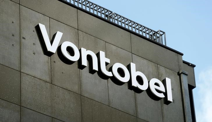 FILE PHOTO: FILE PHOTO: Newly launched logo of Swiss bank Vontobel is seen in Zurich