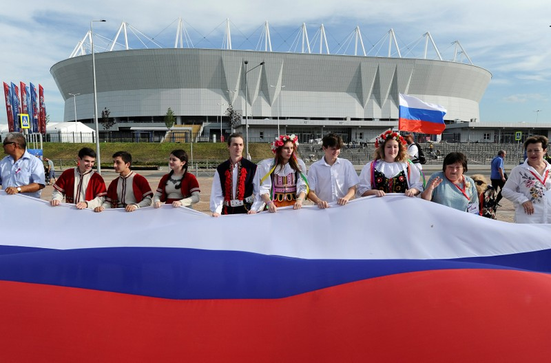 FILE PHOTO: People celebrate the Day of Russia in Rostov-on-Don