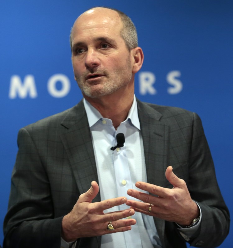 FILE PHOTO -  GM's Stevens speaks at press conference at the North American International Auto Show in Detroit