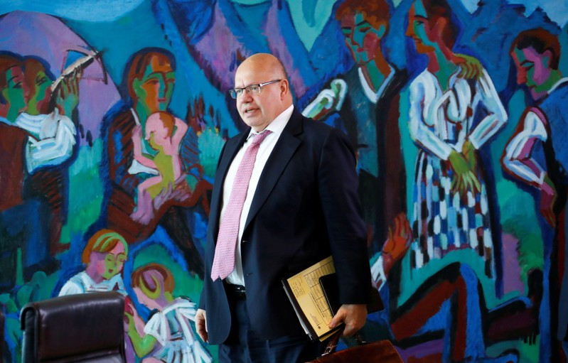 German Economy Minister Peter Altmaier arrives to the weekly cabinet meeting in Berlin