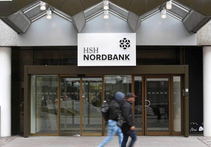 The office of HSH Nordbank is seen in Hamburg