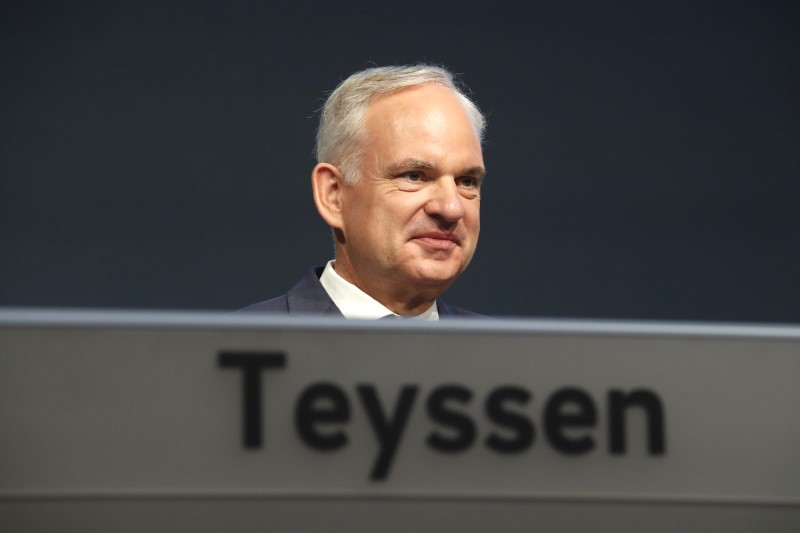 FILE PHOTO:  Chief Executive of German utility E.ON Teyssen attends annual shareholders meeting in Essen