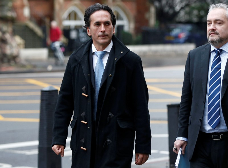 FILE PHOTO: Banker, Philippe Moryoussef leaves Westminster Magistrates court in London