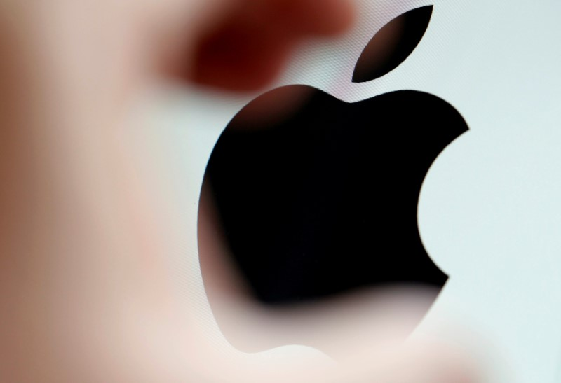 FILE PHOTO: The Apple logo is seen on a computer screen in the illustration photo taken in Bordeaux