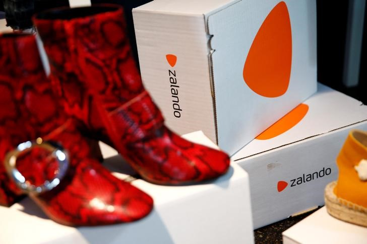 FILE PHOTO: Goods of Zalando Operations, are seen during the company's annual shareholder meeting in Berlin