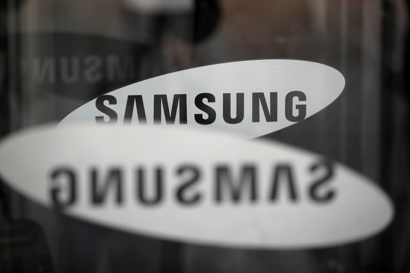 FILE PHOTO - The Samsung logo is seen in Seoul