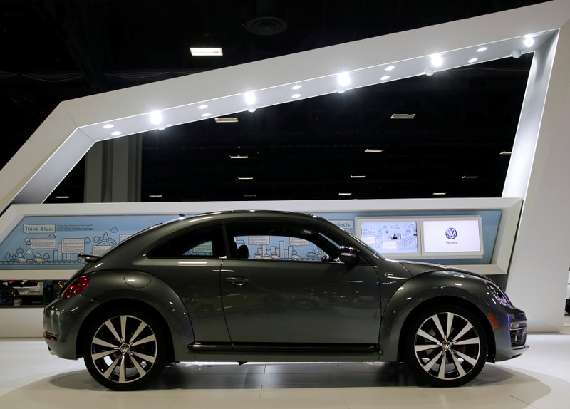 FILE PHOTO: 2015 VW Beetle R Line is seen at Auto Show in Washington