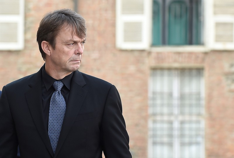 FILE PHOTO: Fiat Chrysler Automobiles (FCA) CEO Mike Manley arrives at the memorial service held in honor of former CEO Sergio Marchionne in Turin