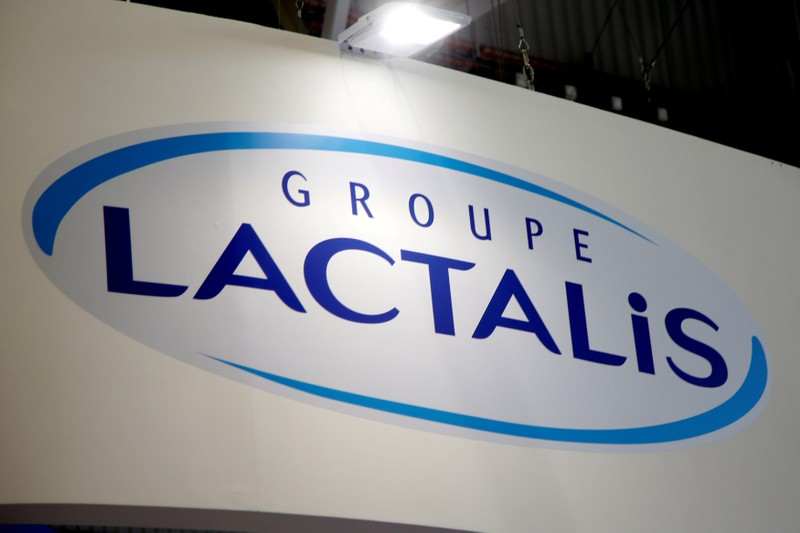 FILE PHOTO: Logo of dairy group Lactalis