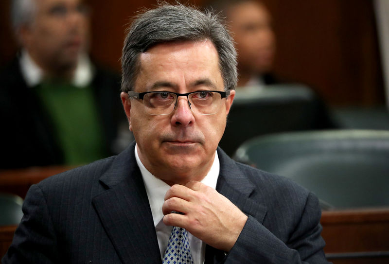 FILE PHOTO - Steinhoff's former Chief Executive Markus Jooste appears in parliament to face a panel investigating an accounting scandal that rocked the retailer in Cape Town
