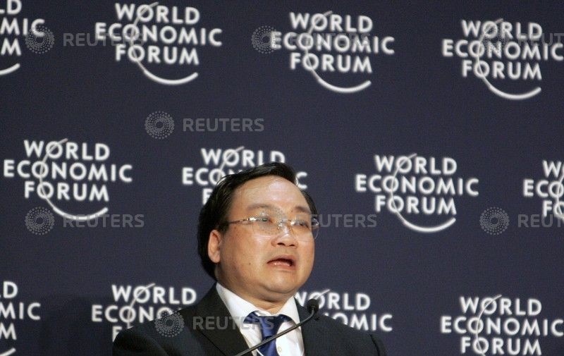 Hoang Trung Hai, deputy Prime Minister of Vietnam speaks at the Asia Forum of the World Economic Forum in Seoul