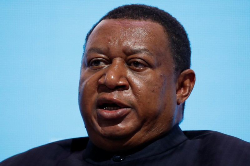 OPEC Secretary General Barkindo speaks during a session of the Russian Energy Week international forum in Moscow