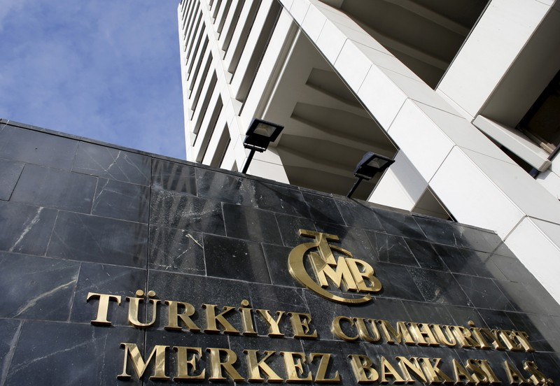 File photo of Turkey's Central Bank headquarters is seen in Ankara